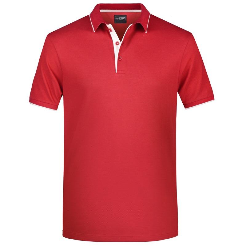 Polo shirt Golf Pro premium rood/wit voor heren