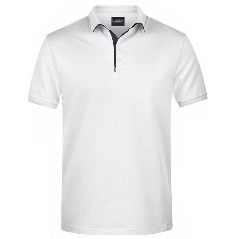 Polo shirt Golf Pro premium wit/zwart voor heren