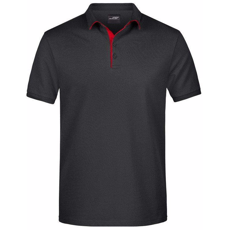 Polo shirt Golf Pro premium zwart/rood voor heren