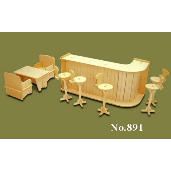 Poppenhuis meubels bar - Poppenhuisinrichting