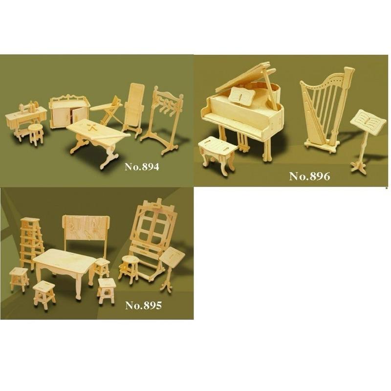 Poppenhuis meubels hobby Bruin