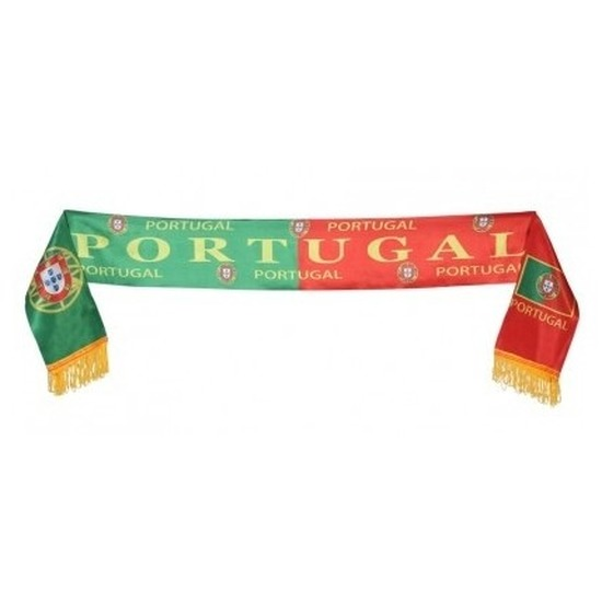 Portugal supporter sjaal 130 cm