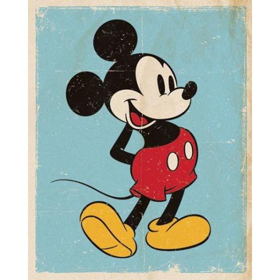 Poster Mickey Mouse retro 40 x 50 cm
