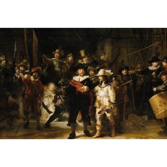 Poster Rembrandt De Nachtwacht 61 x 92 cm kunst wanddecoratie