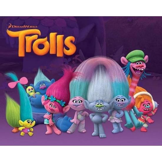 Poster Trolls characters Mini poster 40 x 50 cm Multi