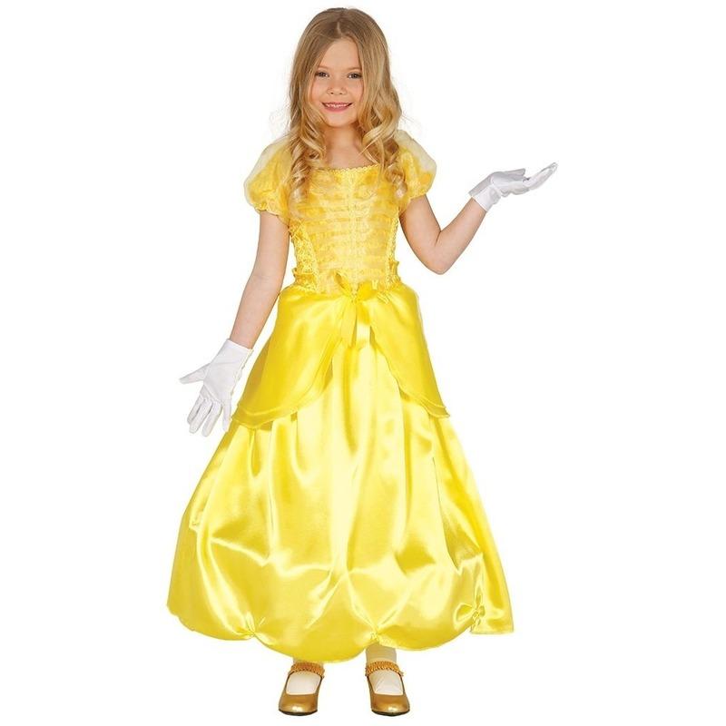 Prinses verkleed jurk/kostuum geel voor meisjes
