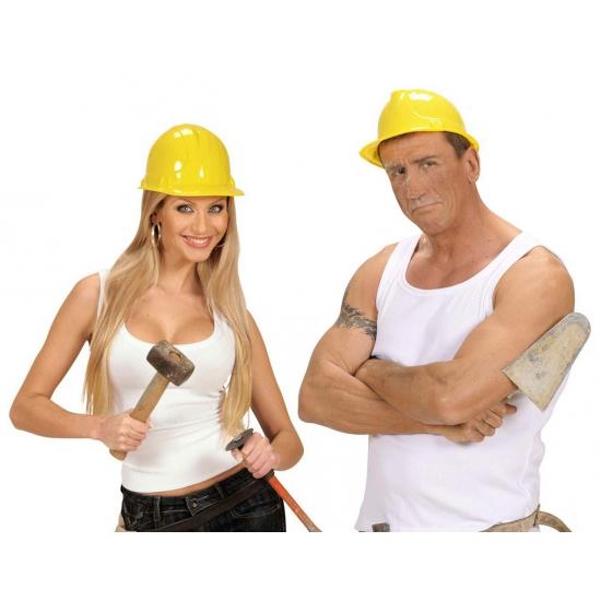 PVC bouwhelm geel