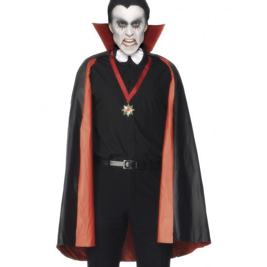 PVC dubbelzijdige cape rood/zwart