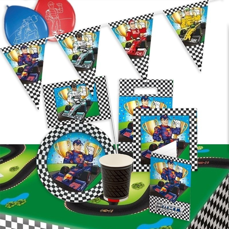 Race thema kinderfeest pakket
