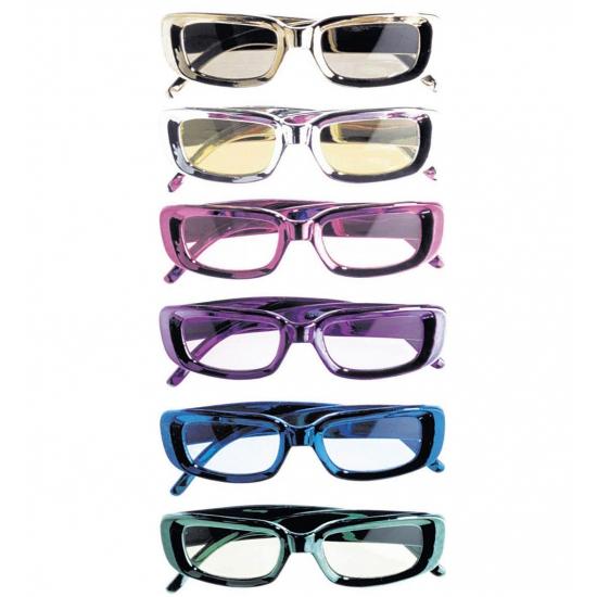 Rechthoekige glimmende brillen