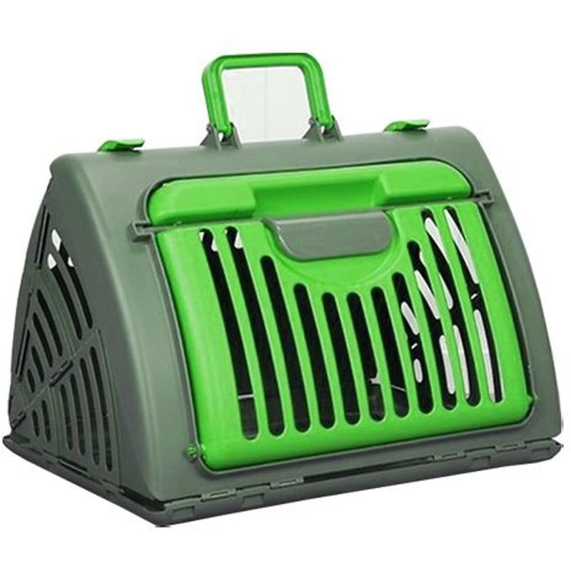 Reismand - transport box voor huisdieren grijs/groen 46 cm