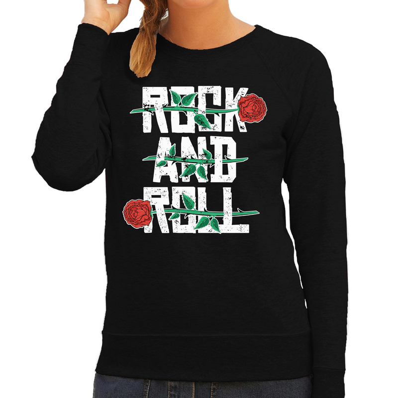 Rock and Roll sweater zwart voor dames