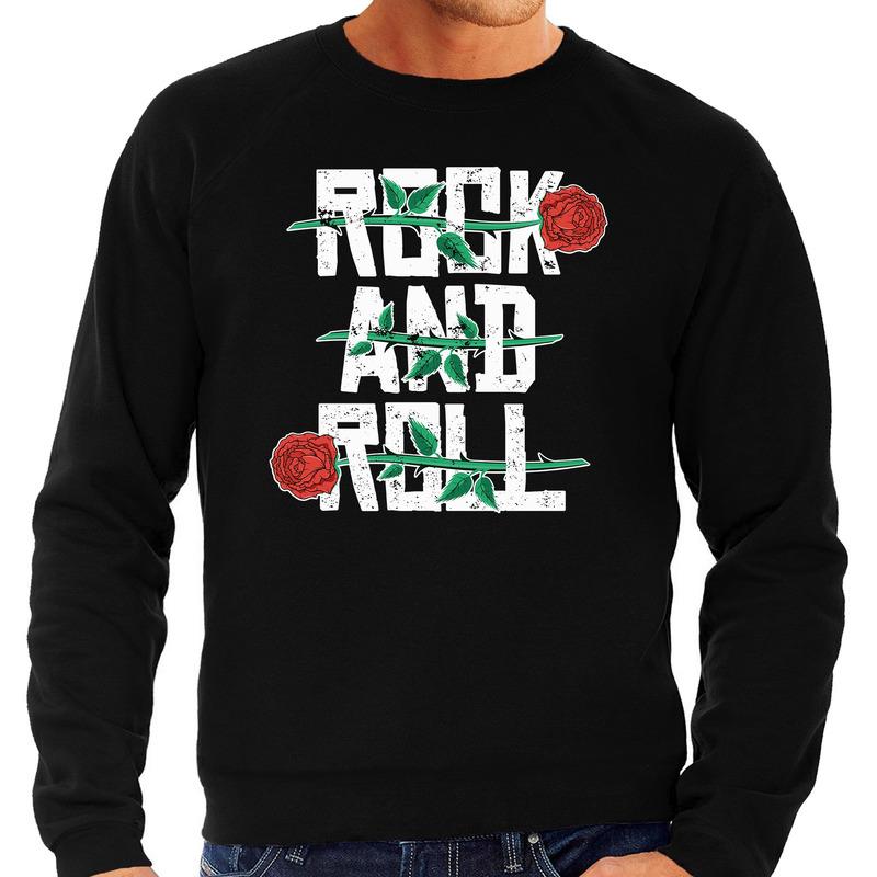 Rock and Roll sweater zwart voor heren