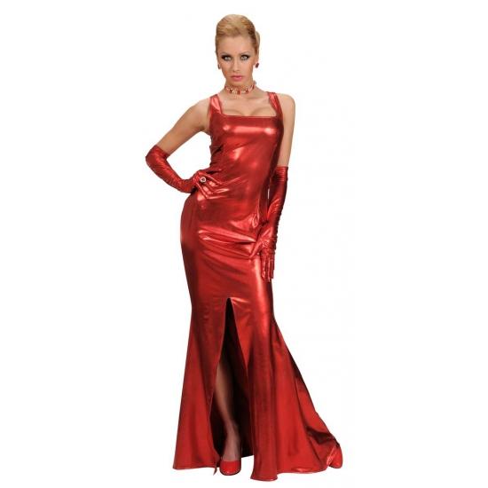 Rode cocktail jurk