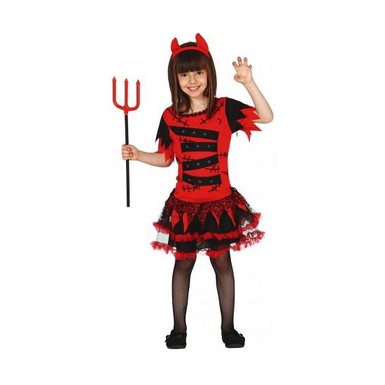 Rode duivel jurkje voor meisjes