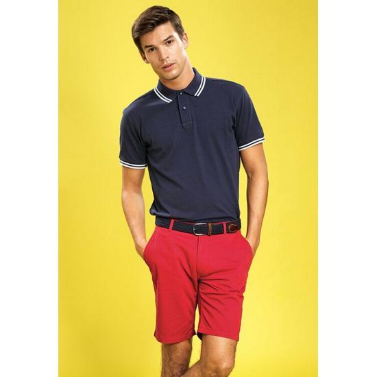 Rode katoenen korte broek voor heren