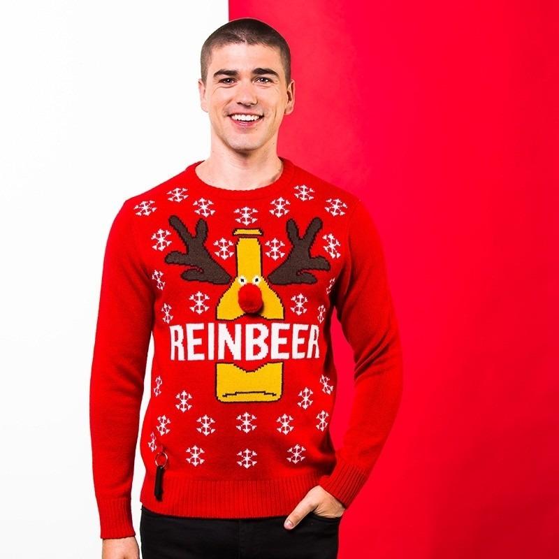 Rode kerst trui Reinbeer voor heren