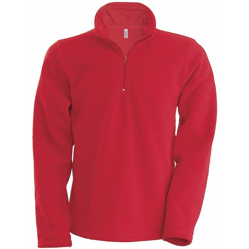 Rode micro polar fleece trui voor heren
