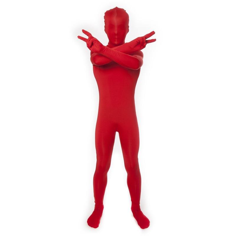 Rode morphsuit voor kinderen