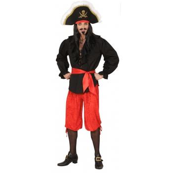 Rode piraten broek velours M/L
