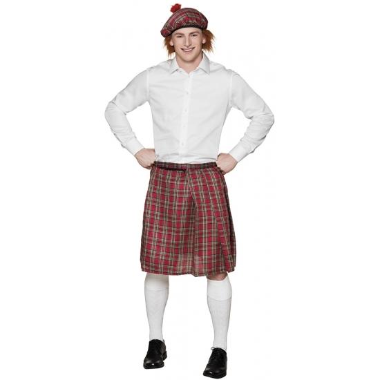 Rode Schotse kilt voor heren