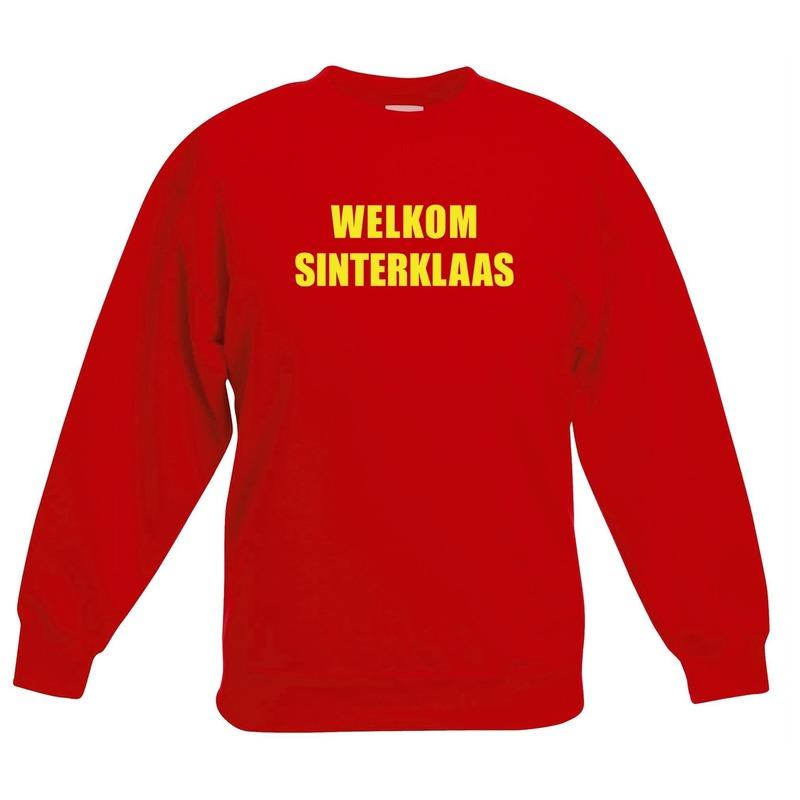 Rode Sinterklaas trui - sweater Welkom Sinterklaas voor kinderen