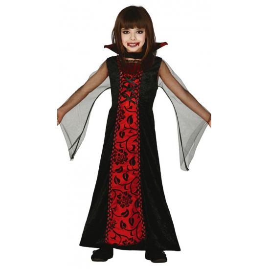 Rode vampieren jurk voor meisjes