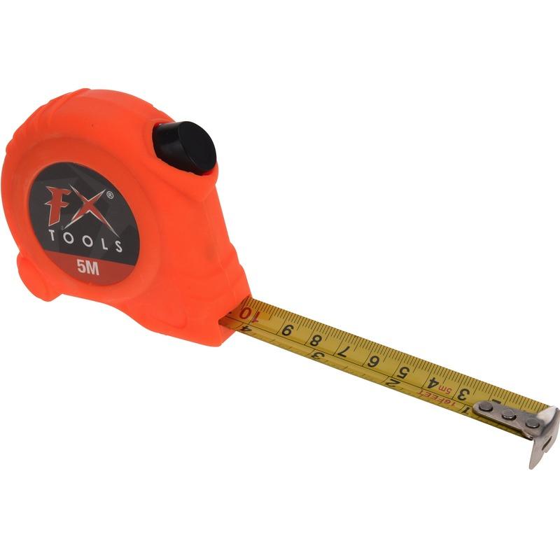 Rolmaat/meetlint oranje 5 meter