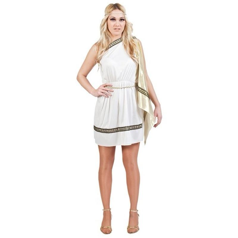 Romeins dames verkleed jurkje wit