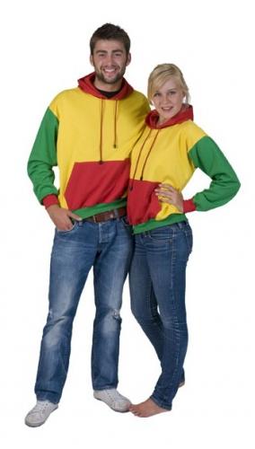 Rood, geel en groene sweater