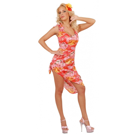 Rood Hawaii jurkje voor dames