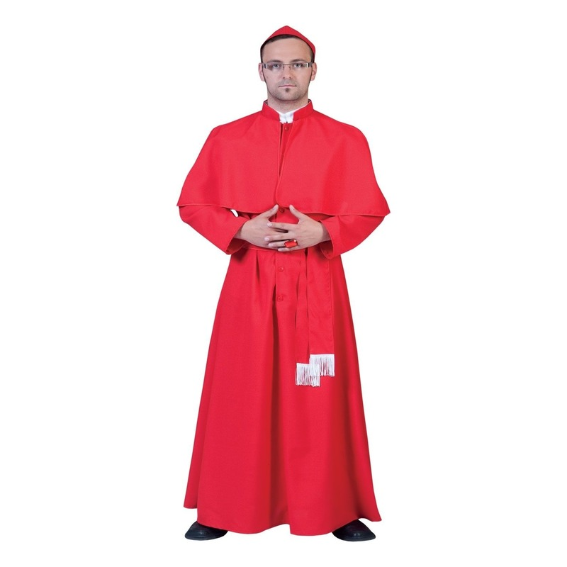 Rood Kardinalen kostuum met solideo