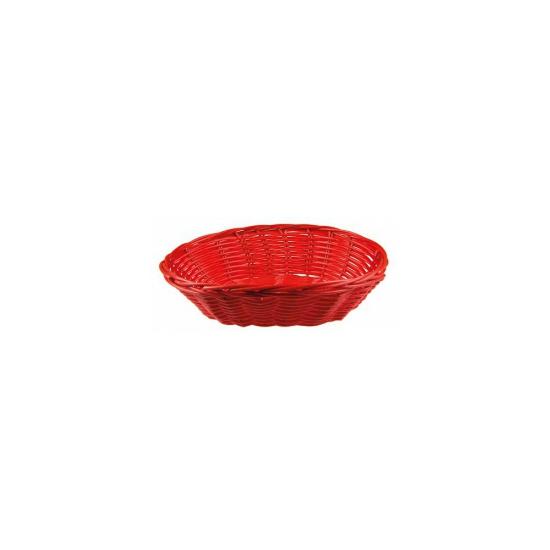 Rood rieten mandje 20 cm Rood