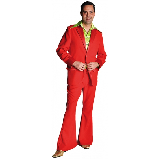 Rood seventies kostuum voor heren