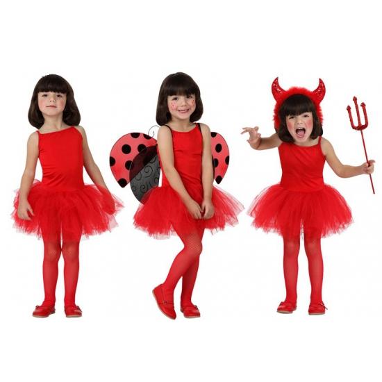 Rood tutu jurkje voor meiden