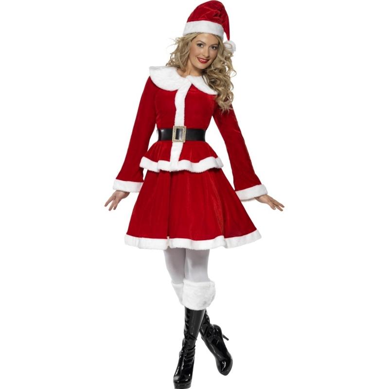 Rood/wit Santa kerstvrouw verkleed kostuum/jurkje voor dames