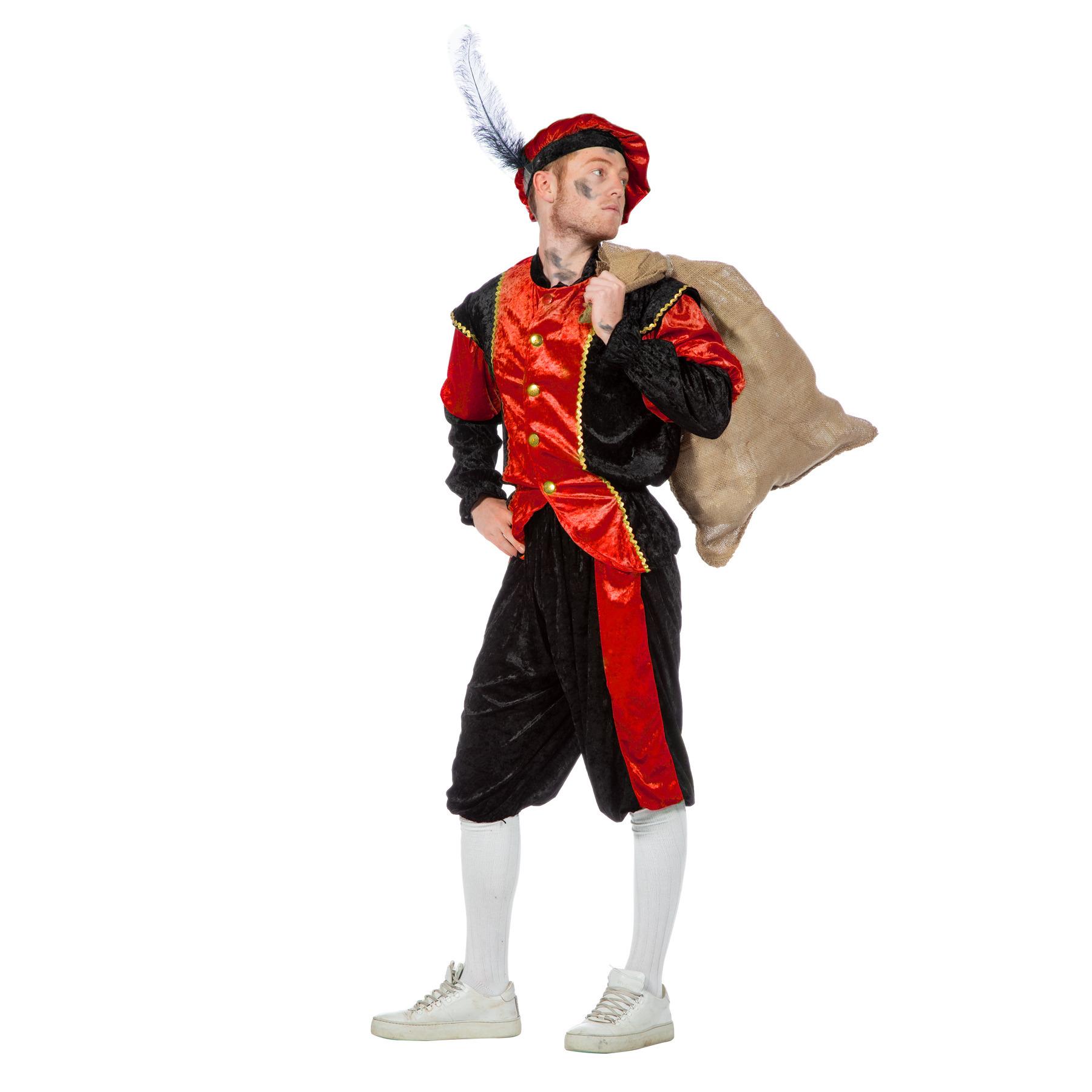 Rood/zwart pieten kostuum budget