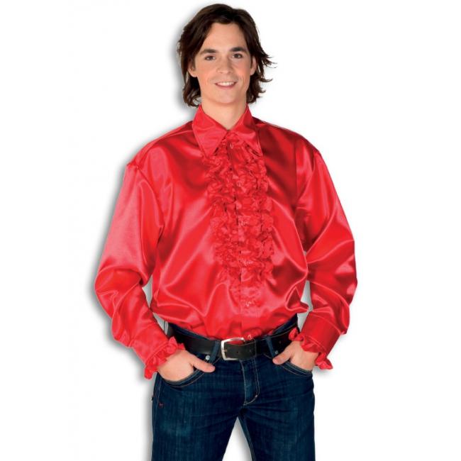 Rouche overhemd voor heren rood