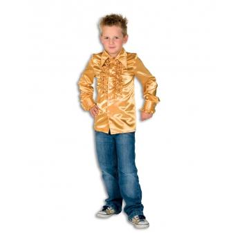 Rouches blouse goud voor jongens