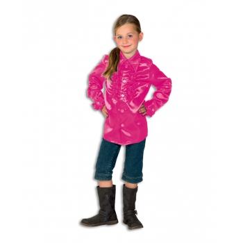 Rouches blouse roze voor meisjes