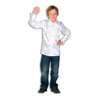 Rouches blouse wit voor jongens