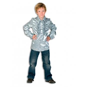 Rouches blouse zilver voor jongens