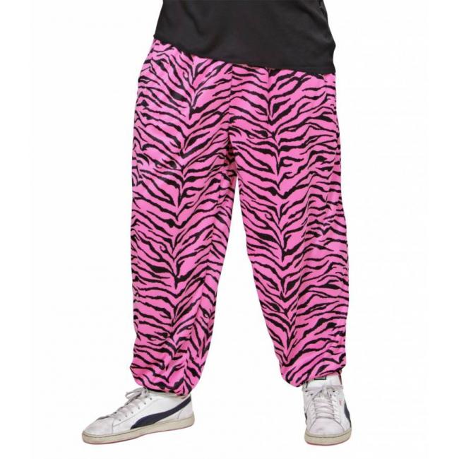 Roze baggy broek zebraprint