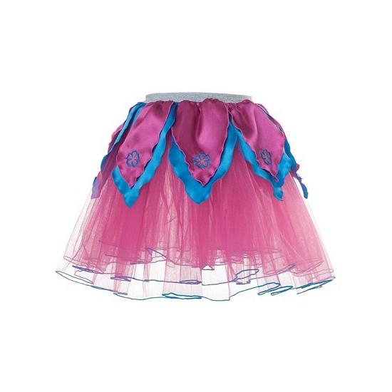 Roze/blauw petticoat/tutu rokje voor meiden