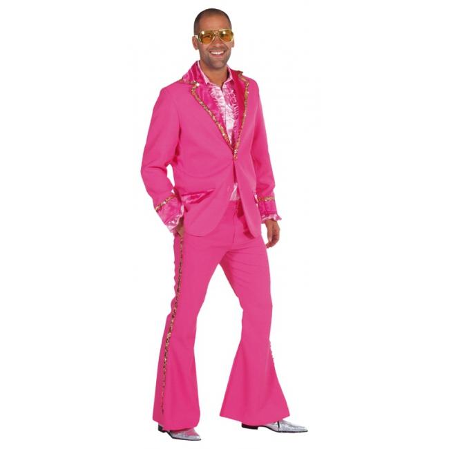 Roze Bling Bling kostuum heren