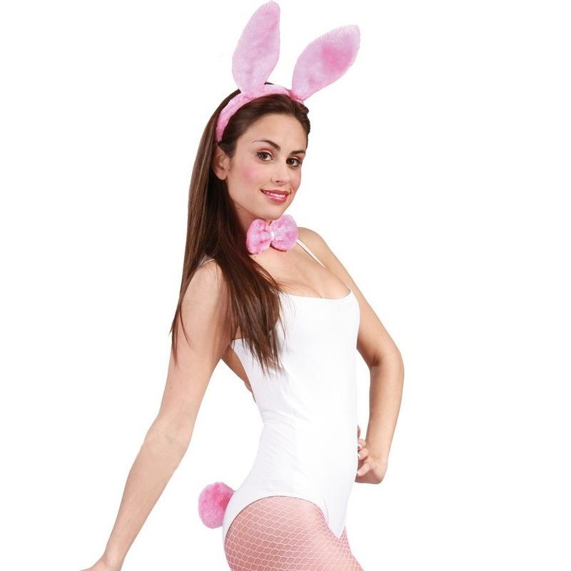 Roze bunny/konijnen verkleedsetje voor dames