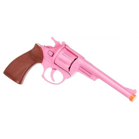 Roze cowboypistool 19 cm 8 shots