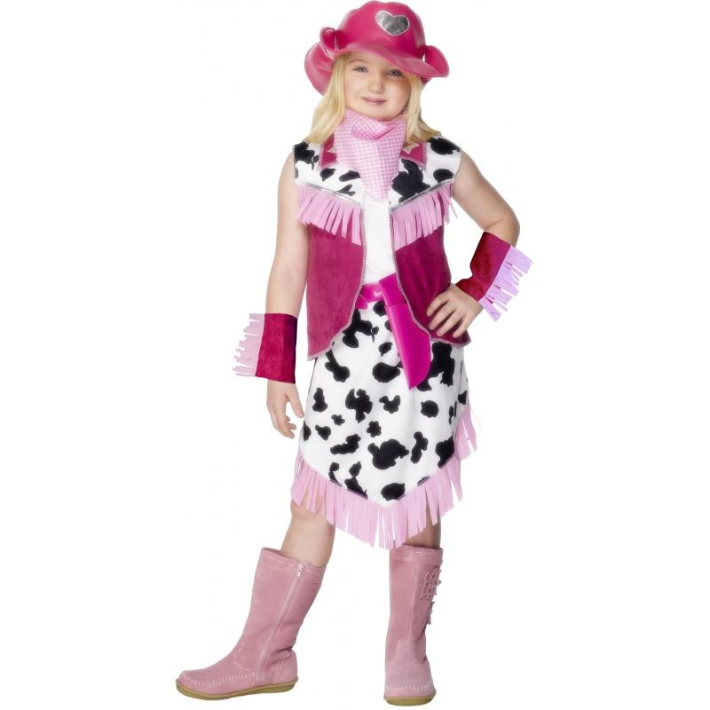 Roze Cowgirl kostuum