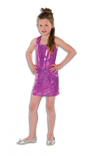 Roze glitter jurk voor meisjes