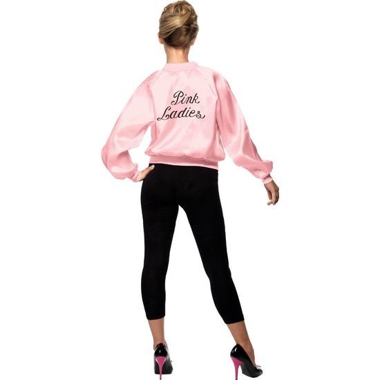 Roze Grease Pink Ladies verkleed kostuum/jas voor dames